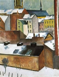 August Macke - The Church of St. Mary in Bonn in Snow