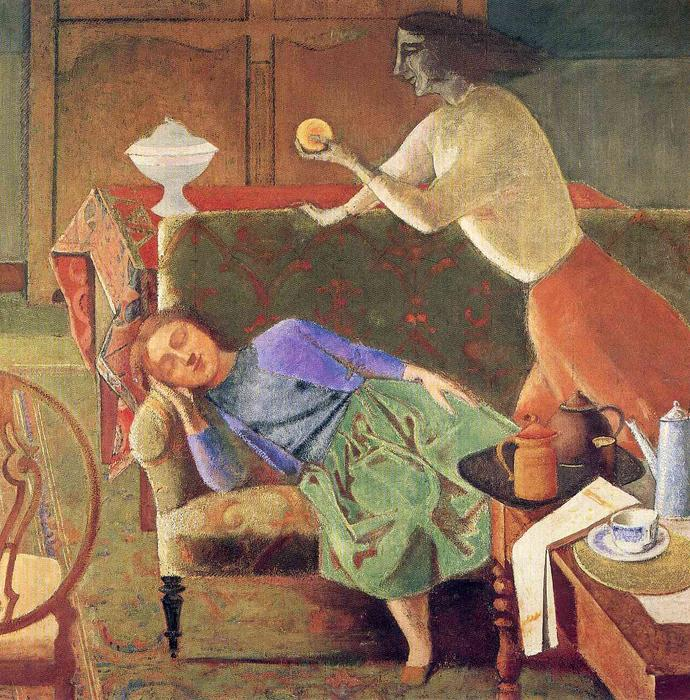 The Golden Fruit, 1956 by Balthus (Balthasar Klossowski) (1908-2001, France) | Art Reproduction | WahooArt.com
