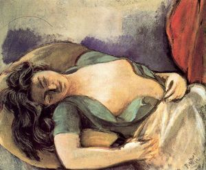 Balthus (Balthasar Klossowski) - Study for the Dream I