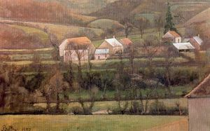 Balthus (Balthasar Klossowski) - The Yonne Valley