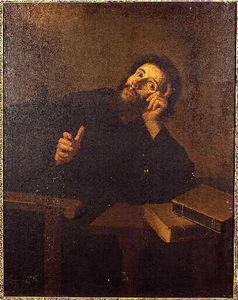 Bartolome Esteban Murillo - Saint Augustine in meditation
