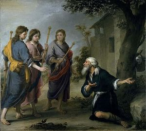 Bartolome Esteban Murillo - Abraham Receiving the Three Angels