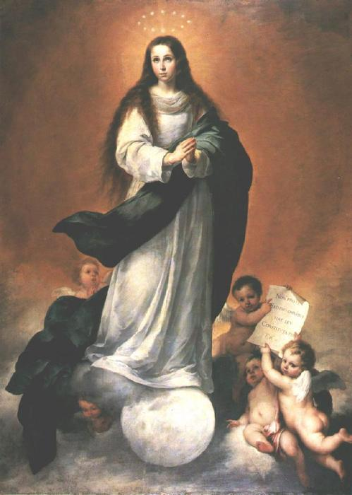 The Immaculate Conception, 1670 by Bartolome Esteban Murillo (1618-1682, Spain) | Reproductions Bartolome Esteban Murillo | WahooArt.com