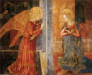 Order Museum Quality Reproductions : San Domenico Annunciation, 1449 by Benozzo Gozzoli (1420-1497, Italy) | WahooArt.com