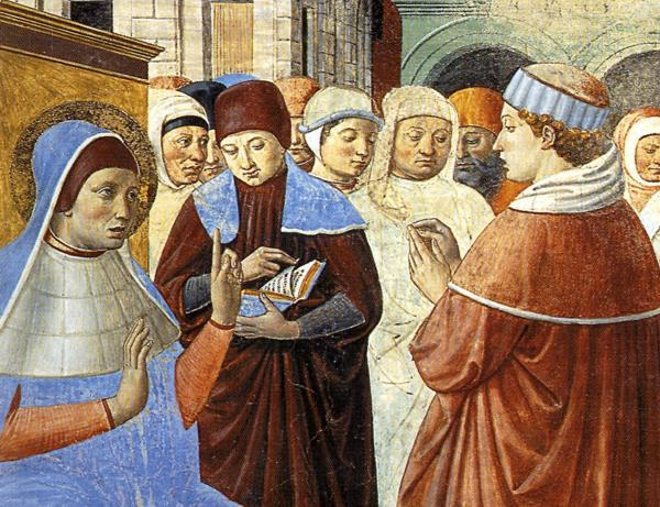 Scenes with St. Ambrose (detail), 1465 by Benozzo Gozzoli (1420-1497, Italy) | Famous Paintings Reproductions | WahooArt.com