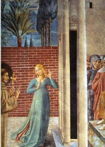 Benozzo Gozzoli - Trial by Fire Before the Sultan (detail)