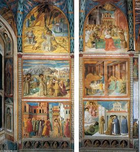 Benozzo Gozzoli - Scenes from the Life of St Francis (south wall)