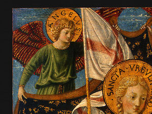 Benozzo Gozzoli - Saint Ursula with Angels and Donor (detail)