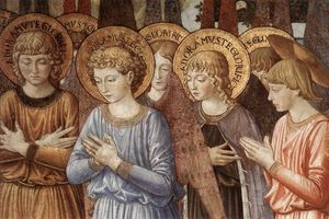Benozzo Gozzoli - Angels Worshipping (detail)