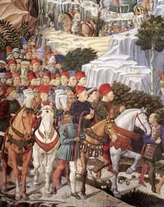 Benozzo Gozzoli - Procession of the Magus Balthazar (detail)