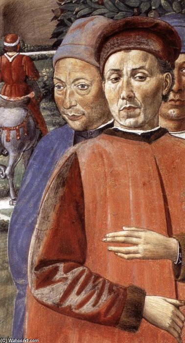 St Augustine Departing for Milan (detail), 1464 by Benozzo Gozzoli (1420-1497, Italy) | Art Reproduction | WahooArt.com