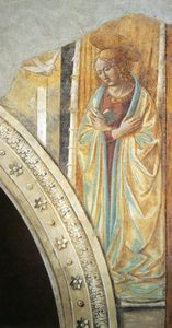 Benozzo Gozzoli - Tabernacle of the Visitation: Annunciation: Mary