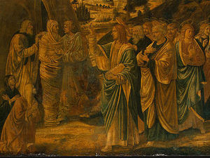 Benozzo Gozzoli - The Raising of Lazarus (detail)