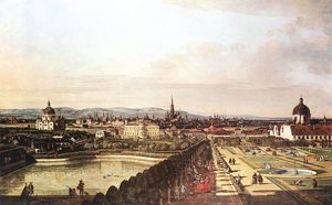 Bernardo Bellotto - The Belvedere from Gesehen, Vienna