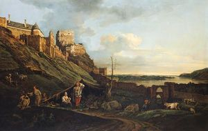 Bernardo Bellotto - The ruins of Thebes on the River March