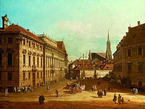 Bernardo Bellotto - A view of the Lobkowicz Palace in Vienna