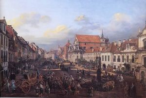 Bernardo Bellotto - View of Cracow Suburb leading to the Castle Square
