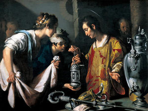 Bernardo Strozzi - St. Lawrence Distributing the Riches of the Church