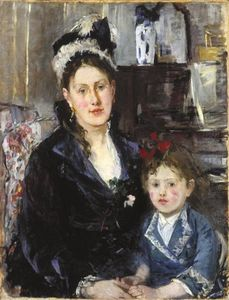 Berthe Morisot - Mme Boursier and Her Daughter