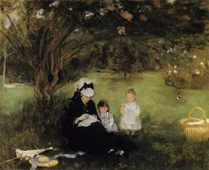 Berthe Morisot - Beneath the Lilac at Maurecourt