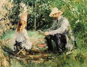 Berthe Morisot - Julie and Eugene Manet