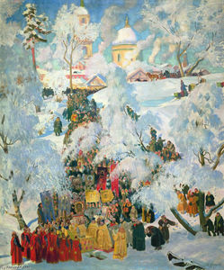 Boris Mikhaylovich Kustodiev - The Consecration of Water on the Theophany