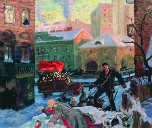 Boris Mikhaylovich Kustodiev - Petrograd on February