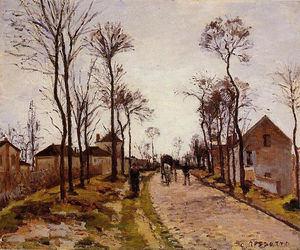 Camille Pissarro - The Road to Saint Cyr at Louveciennes