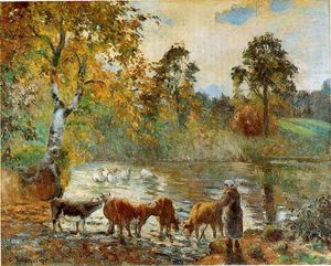 Camille Pissarro - The Pond at Montfoucault