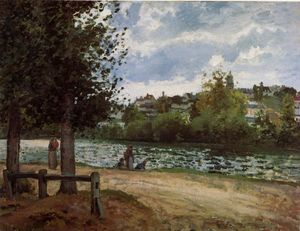 Camille Pissarro - The Banks of the Oise at Pontoise