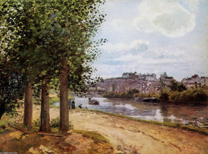 Camille Pissarro - Pontoise banks of the Oise