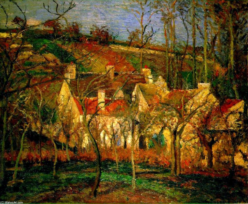 Red Roofs, Corner of a Village, Winter, Oil On Canvas by Camille Pissarro (1830-1903, United States)
