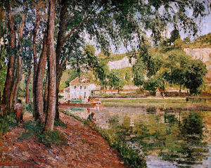 Camille Pissarro - Road along the Loing canal