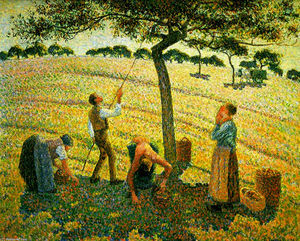 Camille Pissarro - Apple Picking at Eragny-sur-Epte