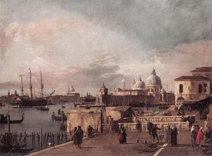 Giovanni Antonio Canal (Canaletto) - Entrance to the Grand Canal: from the West End of the Molo