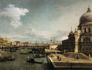 Giovanni Antonio Canal (Canaletto) - Entrance to the Grand Canal and the Church of La Salute