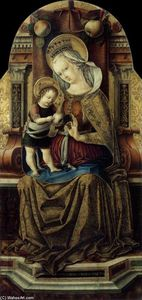 Carlo Crivelli - Virgin and Child Enthroned