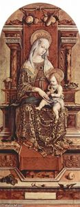 Carlo Crivelli - Enthroned Madonna