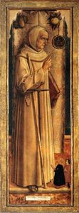 Carlo Crivelli - Saint James of the Marches with two kneeling donor