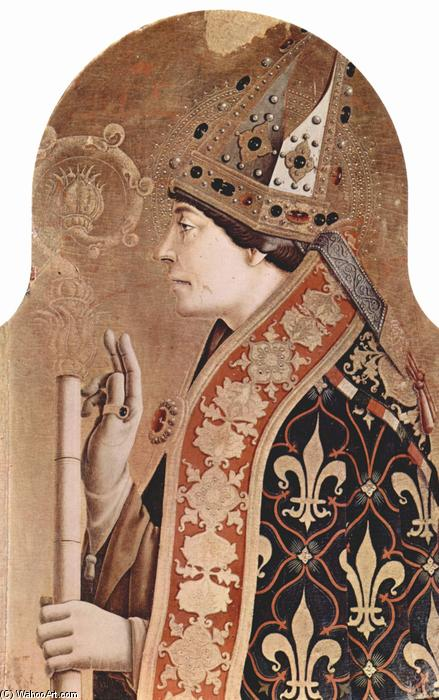 Saint Louis of Toulouse, 1470 by Carlo Crivelli (1435-1495, Italy) | Museum Quality Copies Carlo Crivelli | WahooArt.com