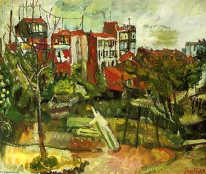 Chaim Soutine - Suburban Landscape with Red Houses