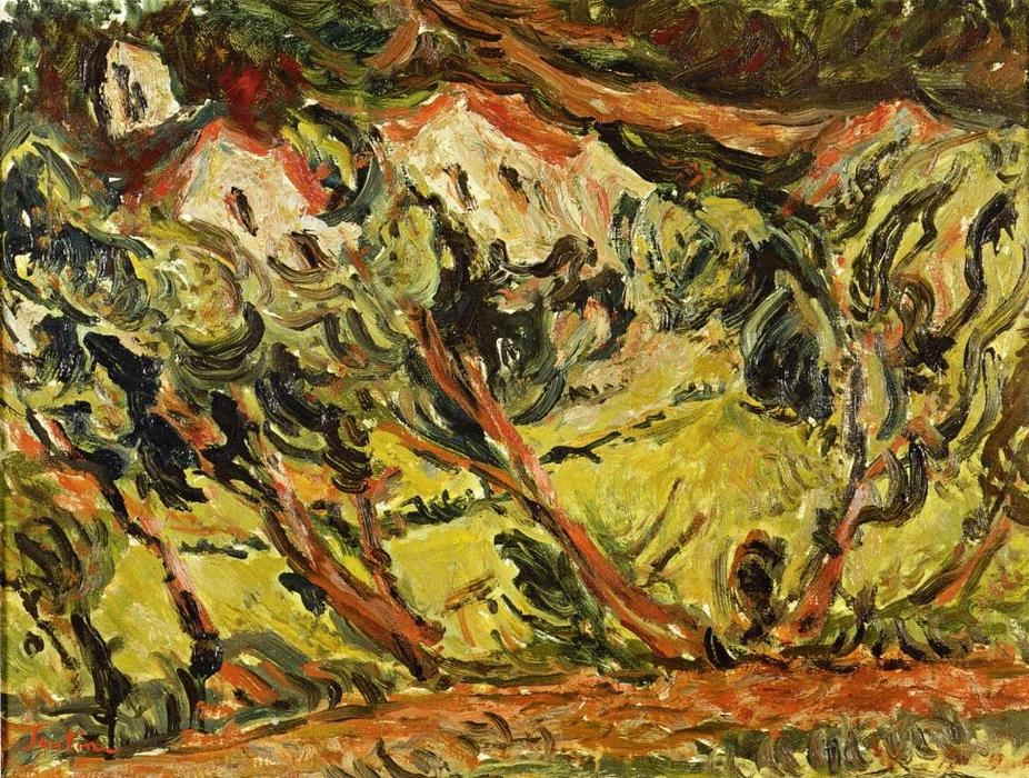 Order Famous Paintings Reproductions : Ceret Landscape, 1920 by Chaim Soutine (1894-1943, Russia) | WahooArt.com