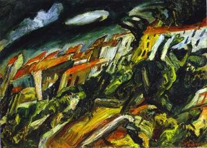 Chaim Soutine - View of Ceret