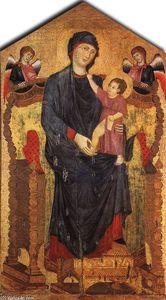 Cimabue - Madonna Enthroned with the Child and Two Angels
