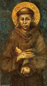 Cimabue - Saint Francis of Assisi (detail)