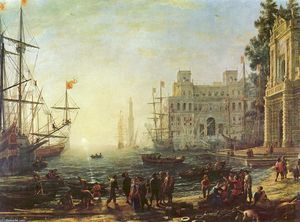 Claude Lorrain (Claude Gellée) - Harbour with Villa Medici