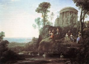 Claude Lorrain (Claude Gellée) - Apollo and the Muses on Mount Helicon