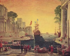 Claude Lorrain (Claude Gellée) - Ulysses Returning Chryseis to her Father