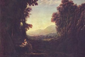 Claude Lorrain - Landscape with repentant Magdalene