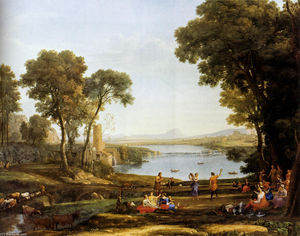 Claude Lorrain (Claude Gellée) - Landscape With The Marriage Of Isaac And Rebekah